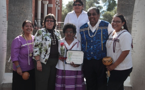 Chairman Norris and other guests from the Tohono O'odham Nation