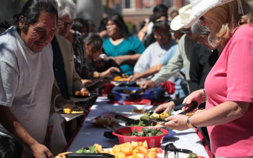 Food catered at the dedication