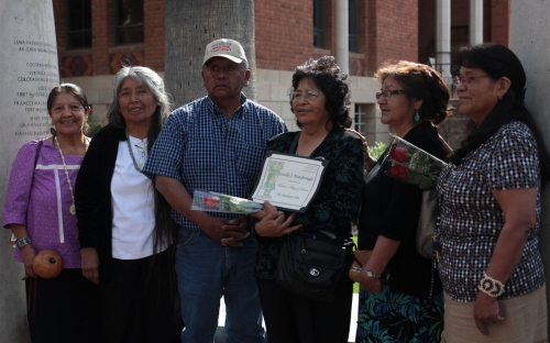 Hualapai honoree Lucille Watahomigie with family and friends (2)
