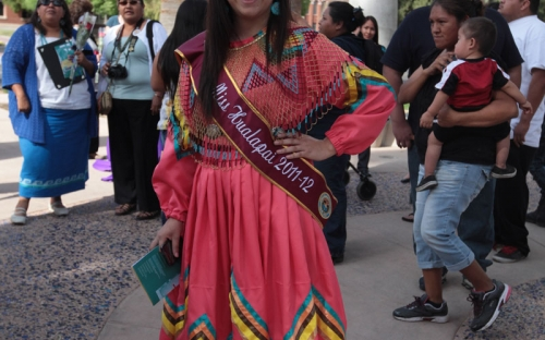Miss Hualapai 2011-12 at the arch dedication
