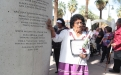 A relative of Tohono O'odham honoree Molly Garcia at the arch (2)
