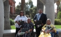 Honorees and relatives of honorees from the San Carlos Apache Tribe