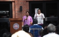 Regina and Megan Siquieros introduce the blessing for honorees