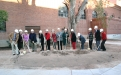 Breaking ground at the Women's Plaza of Honor